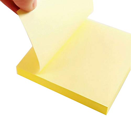 Pop Up Paper Yellow Sticky Note To Do List Size 3x3 Inch 100 Sheet/pack Memo For Office/Home / Kitchen/School