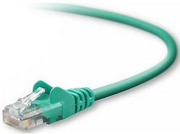 Belkinponents 1ft Cat5e Snagless Patch Cable, Utp, Green Pvc Jacket, 24awg, T568b, 50 Micron,