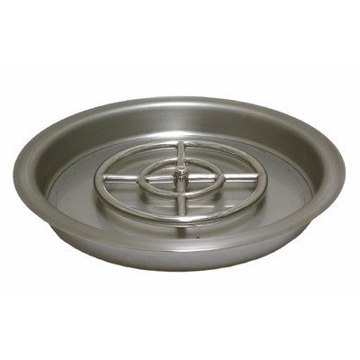 American Fireglass Round Stainless Steel Drop-In Fire Pit Burner Pan, 19-Inch by American Fireglass