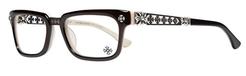 Chrome Hearts - Instabone - Eyeglasses (Black and Tan, - Hearts Chrome Sunglasses Mens