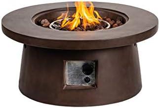 Propane Fire Pit Table 50,000 BTU for Outside Garden, Camping, Yard, Picnic, Bonfire, Backyard, Balcony, Park, Beaches with Lava Rocks
