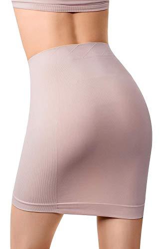 - MD Women's Shapewear High Waisted Nylon Firm Tummy Control Half Slip Body Shaper NudeXL