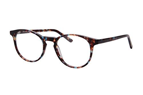 SHINU Ultra Thin Acetate Frame Progressive Multifocus Anti-Blue Light Reading Glasses-SH045(green demi, anti-blue up 0 down - Acetate Frame