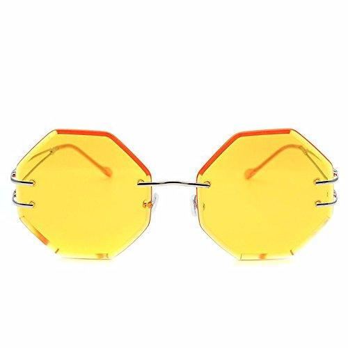 Calle Sol para de Gafas sol sin Película c Sol Gafas de la Gafas de Mujeres Color Liuxc mi de de Marco wPfSvUqWx