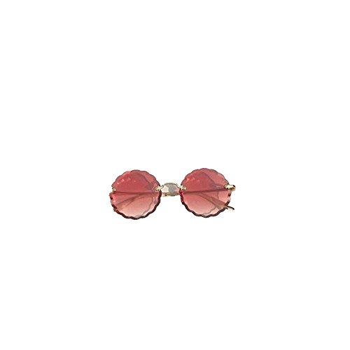 Gafas de gafas encaje galletas sol sol ondulado gafas placa Gafas 6 de sol Shop sol de de Rosado redondas de wpAqIn