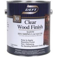 Deft 01701 Interior Lacquer, 1G Clear Wood Finish Brushing Lacquer by Deft