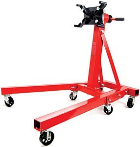 JEGS 80042 Red Engine Stand 2000 lbs Capacity 360 Degree Head Motor Stand (Ton Engine Stand)