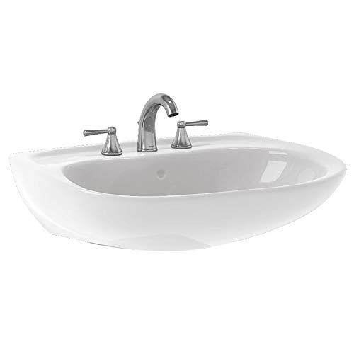 TOTO LHT242.8G#01 Prominence Lavatory and Shroud with 8-Inch Centers, Cotton White