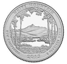 2013 S America the Beautiful New Hampshire White Mountain Silver Proof Quarter PF1