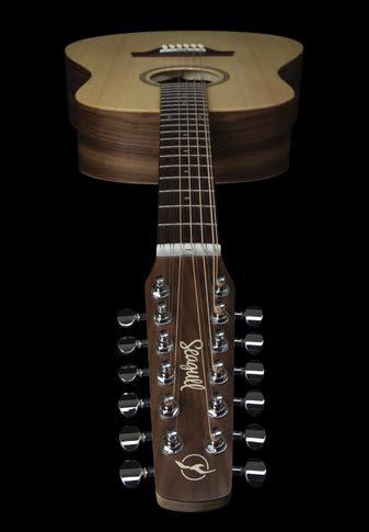 Gaviota excursión nogal 12-string acústica guitarra eléctrica ...