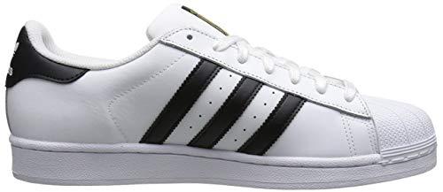 adidas Originals Men's Superstar Shoe Running, Black/White/off, ((5 M US)