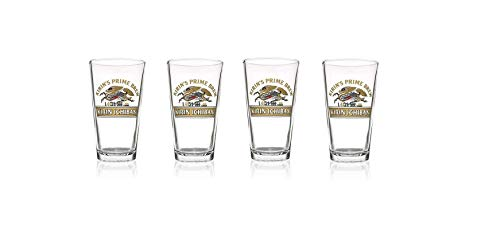 (Kirin Ichiban Beer Glasses 16 oz. Prime Brew Japanese Beer Set 0f 4)