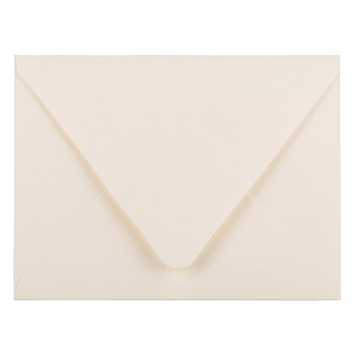 JAM PAPER A2 Invitation Envelopes with Euro Flap - 4 3/8 x 5 3/4 - Ivory - 25/Pack