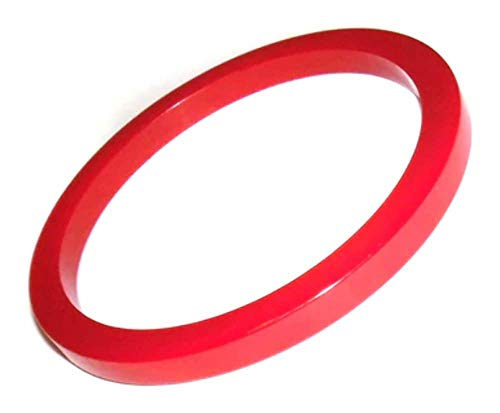 Vintage Round Cherry Red Bakelite Bangle ()