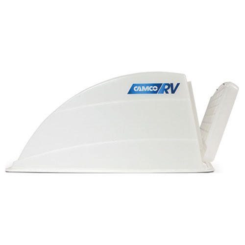- Camco Roof Vent Cover - Allows High Flow Ventilation Into Your RV, Rain or Shine, Easy Installation and Cleaning, Installation Hardware Included - White (40433)