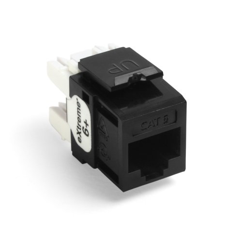 Leviton 61110-BE6 Extreme Quick Port Connector, Black, 25-Pack ()