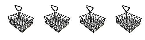 G.E.T. Enterprises Black Metal Five Compartment Condiment Caddy Iron Powder Coated Table Caddies Collection 4-931832 (Pack of 1) (4-(Pack))