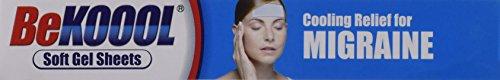 Be Koool Cooling Relief for Migraine Soft Gel Sheets 4 Each by BeKoool (Image #3)