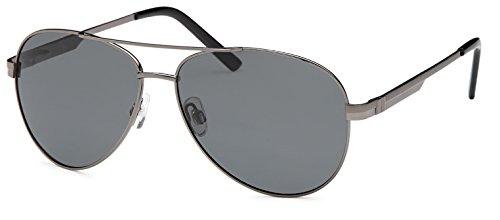 Unisexe soleil qualité ressort pilotes Set dans lunettes Filter polarisé avec Charnière UV400 de haute à accessoires Anthracite avec Fumé Verre et IxBqwB
