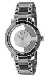 Kenneth Cole New York Round Silver with Transparent Dial Women's watch #KC4924