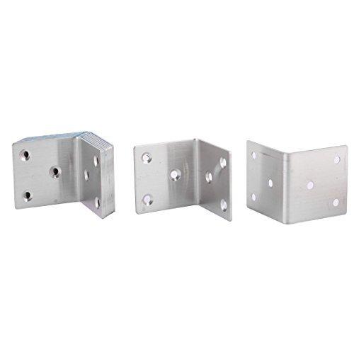 Ménage eDealMax métal en Forme de L 6 trous du Plateau d'angle Cabinet Brace équerre 10pcs