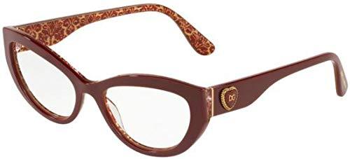 Eyeglasses Dolce & Gabbana DG 3306 3205 BORDEAUX ON DAMASCUS ()