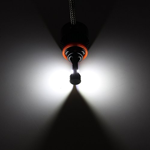 AUDEW LED Headlight Fog Light Bulb Lamp Xenon White 2pcs 8000LM 6000K H7