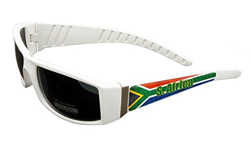 South Africa Design White Frame/Black Lens 60mm Sunglasses Item # - Eyewear Africa South