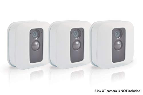 Silicone Skin for Blink XT Security Camera (3 pcs White) - Silicon Case for Blinks Home Security - Anti-Scretch Protective Cover for Full Protection - Indoor Outdoor Best Home Accessories by Sully by Sully