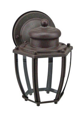 Westinghouse Outdoor Wall Lantern Fix A19 2-1/4 In. Textured Rust Patina Box Bx (Rust Outdoor Westinghouse Fixtures Patina)