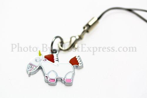 Despicable Me Toy Phone Charm Strap with Mini Snap Hook - (Juliet Mini Pendant)