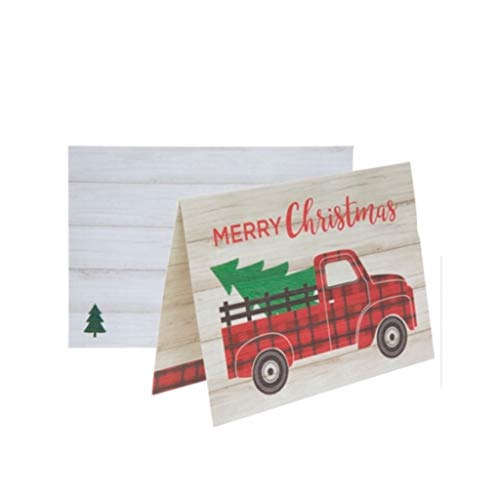 Merry Christmas Vintage Red Truck, Farmhouse Style Box Of Cards 20 Count (Card Christmas Truck)