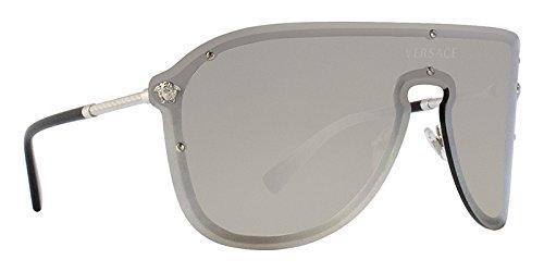 a6c3882dee1 Versace VE2180 Silver Light Grey Mirror Silver Sunglasses