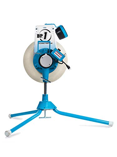 Jugs BP1 Softball Only Pitching Machine Throws softballs up to 70 mph from a Realistic delivery Height.