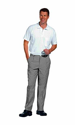 Pantalón de cocina, pata de gallo, blanco/negro, unisex