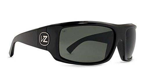 (VonZipper Clutch Men's Polarized Sports Sunglasses/Eyewear - Black Gloss/Grey Poly / One Size Fits All)