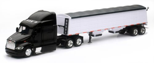 Tractor 43 Scale Diecast (NEW 1:43 NEWRAY TRUCK & TRAILER COLLECTION - PETERBILT MODEL 387 GRAIN HAULER Diecast Model By NEW RAY TOYS)
