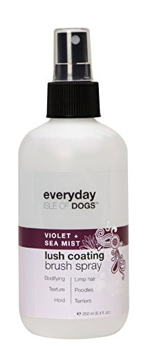 Everyday Isle of Dogs Lush Coating Dog Brush Spray, Violet + Sea Mist, 8.4 Ounce