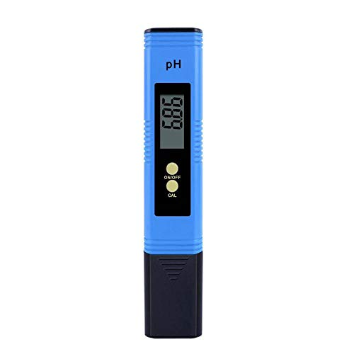 Digital PH Meter, PH Tester ProfessionalHigh Accuracy Water Quality Tester with 0-14 PH Measurement Range, for Aquarium, Pool, Drinking Water, Indoor/Outdoor Use,3 pH Buffer Packets Calibration