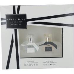 Faith Hill Variety By Faith Hill Gift Set For Women 2 Piece With Faith Hill Edt Spray .5 Oz & Faith Hill True Edt Spray .5 Oz