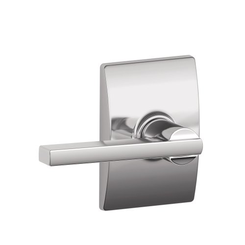 Schlage Lock Company F10LAT625CEN Century Collection with Latitude Passage Lever, Bright Chrome