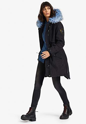 Giacca Unita Grau Lunga Manica Khujo Tinta Donna Cappotto 16tnxw