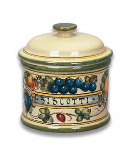 - Hand Painted Toscana Bees Biscotti Jar from Italy