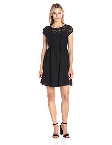 kensie Women's Lace Netting Dress