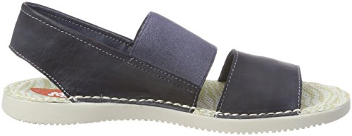 Tai383Sof Womens Softinos Leather Washed Navy Sandal SA1gqYwg