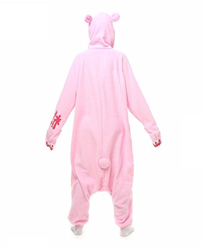 Amazon.com : HYY@ Kigurumi Pajamas Cosplay / Bear / Raccoon Leotard/Onesie Halloween Animal Sleepwear Pink Patchwork Polar Fleece Kigurumi Unisex : Sports & ...