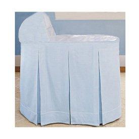 BabyDoll Ric Rac Bassinet Liner/Skirt and Hood, Blue, 13 ''x 29''