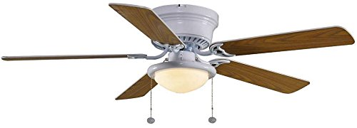 Hampton Bay Hugger 52 in. White Ceiling Fan with Light
