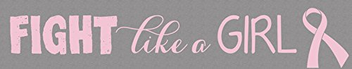 1 X Fight Like A Girl Pink Ribbon Breast Cancer Awareness 12 inch Tabletop Plaque