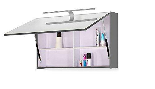 SAM® Badmöbel Set Genf Deluxe 4tlg, in weiß grau, 80 cm